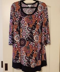 ♡4/$10♡ CJ Banks 3X Plus Size Tunic Length Top